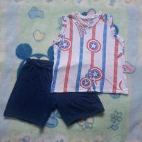 Pijama Capitão América 04 - 4 anos - Não informada