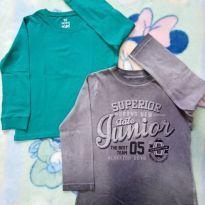 Dupla de camisetas manga longa 4 anos - 4 anos - Não informada