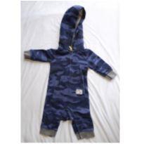 Macacão azul mar - 0 a 3 meses - Carter`s
