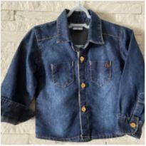 Camisa Jeans - 6 a 9 meses - Clube do Doce