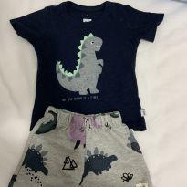 Conjunto dinossauro novo - 6 a 9 meses - PUC