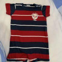Macacão curto baby tênis - 6 a 9 meses - Tilly Baby