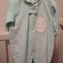 Macacão em plush - 6 a 9 meses - Baby fashion
