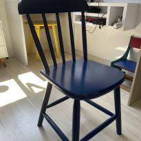 Cadeira Azul de Madeira TOK&STOK -  - Tok & Stok