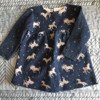 Vestidinho de Unicórnios - 3 a 6 meses - Zara Baby