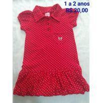Vestido de bolinha - 12 a 18 meses - Sem marca