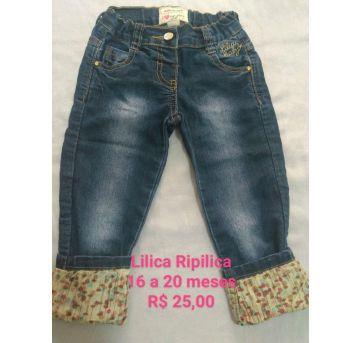 Calça Jeans Lilica - 12 a 18 meses - Lilica Ripilica