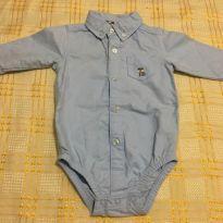 Body Camisa Carters - 6 a 9 meses - Carter`s