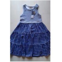 Vestido Azul - 8 anos - Momi
