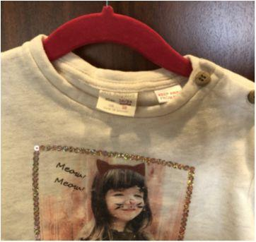 Blusa moleton zara com lantejola - 18 a 24 meses - Zara Baby
