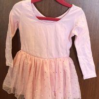Collant bailarina rosa bebê com brilhos - 12 a 18 meses - Sem marca