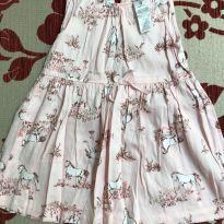 Vestido rosa bebê com cavalos carters - 9 meses - Carter`s
