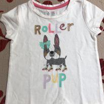 Camiseta branca com cachorrinha gap - 18 a 24 meses - Baby Gap