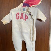 Macacão moleton flanelado gap - 0 a 3 meses - Baby Gap