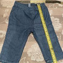 Calça jeans tecido mole gap - 6 a 9 meses - Baby Gap