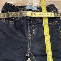 Calça jeans escuro skinny gap - 6 a 9 meses - Baby Gap