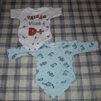 Conjunto de bodys - 0 a 3 meses - Tilele Baby