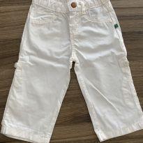 Calça 2 em 1 branca - 6 a 9 meses - PUC