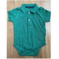 Body Polo Tommy - 6 a 9 meses - Tommy Hilfiger