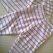 Duplinha listradinha - short e calça - 6 a 9 meses - Tricae