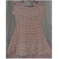 Vestido de crochê - 9 a 12 meses - Artesanal