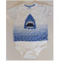 Camisa body tubarão - 9 a 12 meses - Baby Way