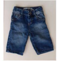 Bermudão Jeans - 12 a 18 meses - Mania Kids