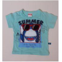 Camiseta tubarão interativa - 6 a 9 meses - Marlan