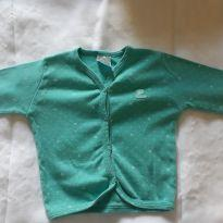 Casaquinho para bebê verde claro - 6 a 9 meses - Pulla Bulla
