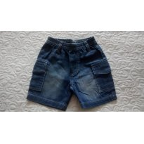 shorts jeans com elastico M - 6 meses - Have Fun
