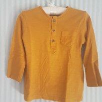 Camiseta zara mostarda 9 - 12m - 9 meses - Zara Baby