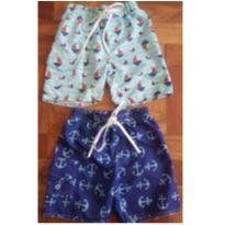 Kit 2 shorts estampados - 3 anos - Marca não registrada