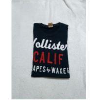 Camiseta Hollister azul marinho M - 14 anos - Hollister