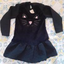 Vestido gatinha veludo - 2 anos - hrradinhos