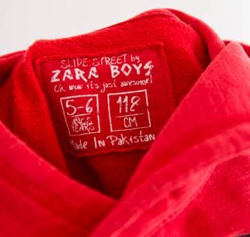 Casaco moletom vermelho - 6 anos - Zara
