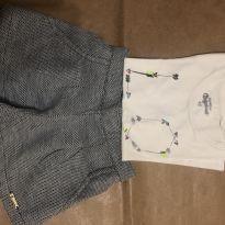 Conjunto short (marca desconhecida) e blusa (oshkosk) 3 anos - 3 anos - OshKosh e Desconhecida