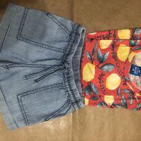 Conjunto short jeans Carter's 3T + blusa Hering - 3 anos - Carter`s e Hering Kids