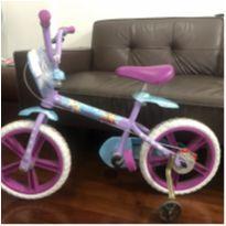 Bicicleta Aro 12 - Disney - Frozen 2 - Branco, Azul e Roxo - Bandeirante -  - Bandeirante