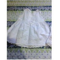 Vestido branco com bordado - 6 a 9 meses - Teddy Boom