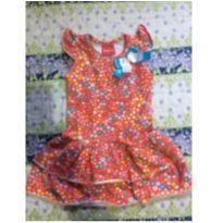 Vestido florido - 1 ano - Trenzinho