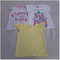 kit com 3 camisetas 1 ano - 1 ano - Variadas e Carter`s
