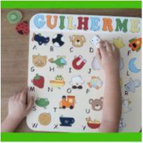 Alfabeto Ilustrado Brinquedo Educativo Pedagógico Encaixe -  - Galerinha Criativa