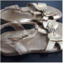 sandália com Lacinho Dourado - 21 - Pampili