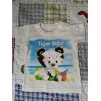 Camiseta Tigor Baby - 3 a 6 meses - Tigor Baby e Tigor T.  Tigre