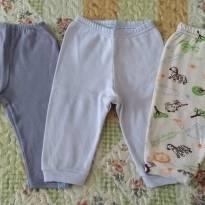 Kit Calças Confortáveis - 3 a 6 meses - Diversas e Bicho Molhado