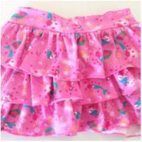 Saia rosa sereia - 18 a 24 meses - Baby Club