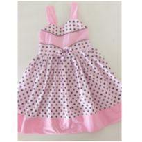 Vestido rosa de poá marrom - 3 anos - Funny Kids