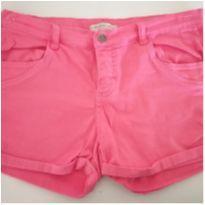 Shorts rosa chiclete - 12 anos - Palomino