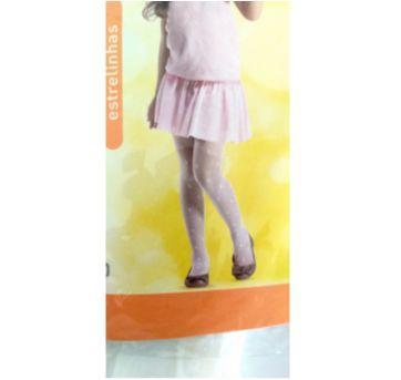 Meia Calça Branca com Estrelinha G - Lupo - Sem faixa etaria - Lupo
