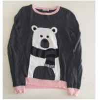 Blusa tricô Urso (suéter) - 12 anos - Hering Kids